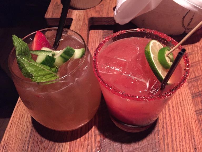 (left) Strawberry Mojito, Diablo (right)