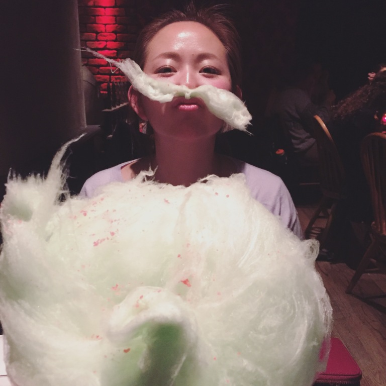 Complimentary Green Apple Cotton Candy Cloud